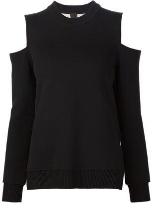 Vera Wang cold shoulder jumper $1,095 thestylecure.com
