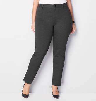 Avenue L-Pocket Slim Leg Ponte Pant
