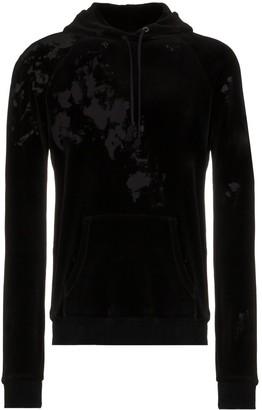 Saint Laurent Destroyed velvet hoodie