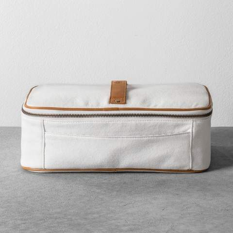 Hearth & Hand with Magnolia Cosmetic Bag Canvas - White