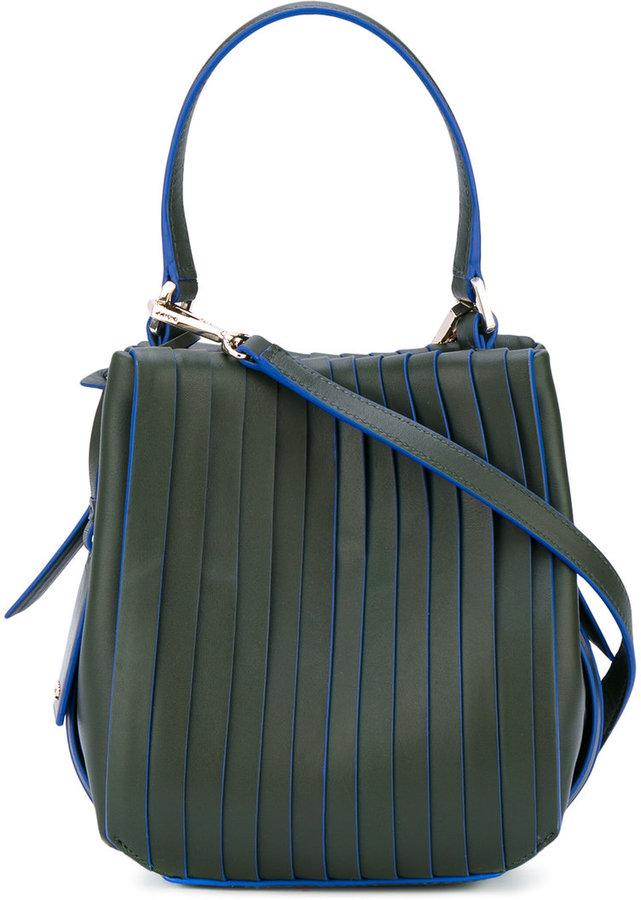 DKNY panelled shoulder bag