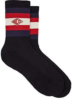 Gucci Men's Striped Stretch-Cotton Mid-Calf Socks