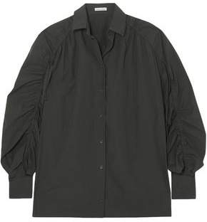 Tomas Maier Gathered Cotton-Poplin Shirt