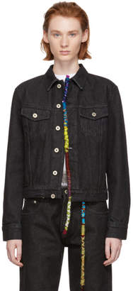 Loewe Black Embroidered Knot Denim Jacket
