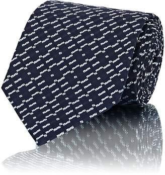 Isaia Men's Geometric-Print Silk Necktie