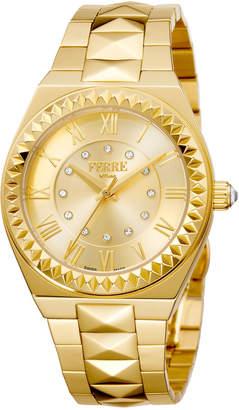 Ferré Milano Women's 36mm Stainless Steel Spike Watch with Bracelet, Golden