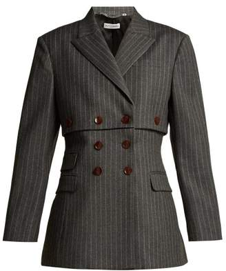Altuzarra Millett Pinstripe Virgin Wool Blend Jacket - Womens - Grey Stripe
