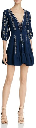 Piper Sanor Lace-Up Dress $198 thestylecure.com
