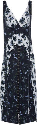 Proenza Schouler Printed Matte Satin Dress