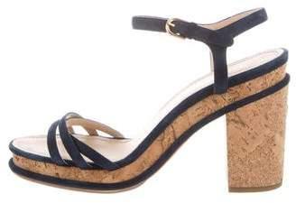Chanel Suede Multistrap Sandals
