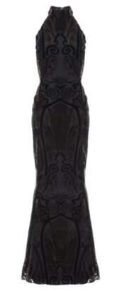 Ariella Velvet Devoree Gown
