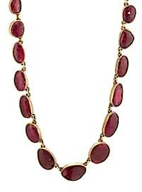 Judy Geib Women's Ruby Necklace - Red