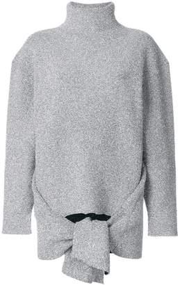 Balenciaga Draped knitted top