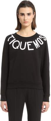 Moschino Rubberized Print Logo Cotton Sweatshirt