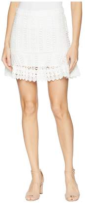 BB Dakota Lucine Lace Ruffle Skirt Women's Skirt