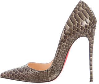 Christian Louboutin  Christian Louboutin So Kate 120 Python Pumps