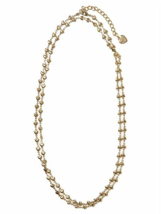 Betsey Johnson Mini Hearts Chain