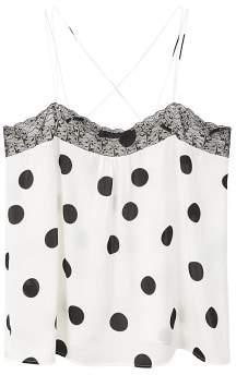 Violeta BY MANGO Polka dots lace top