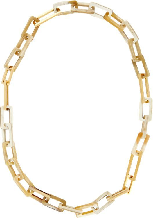 Maiyet Women's Horn Necklace-Colorless