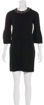 Vince Embellished Wool Dress