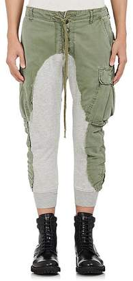 Greg Lauren Men's Cotton Slim Lounge Pants - Olive