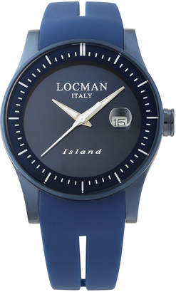 Locman (ロックマン) - LOCMAN ラウンドウォッチ デイト表示 ケース:ブルー ベルト:ブルー