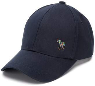 Paul Smith zebra motif baseball cap
