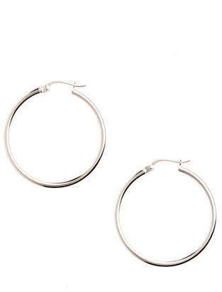 Lord & Taylor Sterling Silver Thin Hoop Earrings $70 thestylecure.com