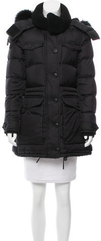 Burberry  Burberry Brit Shearling-Trimmed Down Coat