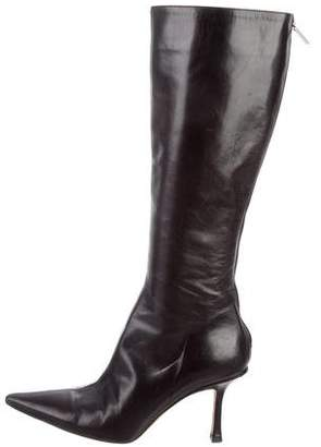Jimmy Choo Pointed-Toe Mid-Calf Boots