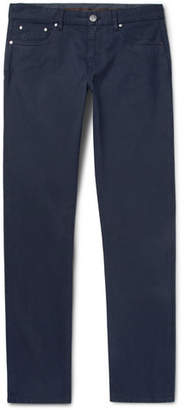 Ermenegildo Zegna Slim-Fit Stretch-Cotton Twill Trousers