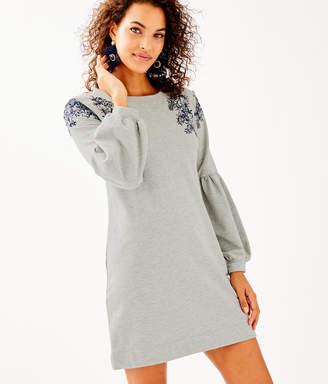 Lilly Pulitzer Bartlett Embellished Sweatshirt Dress