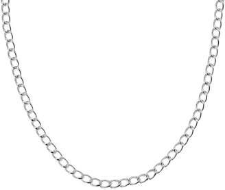 Italian Silver Curb Link Chain, 24.1g