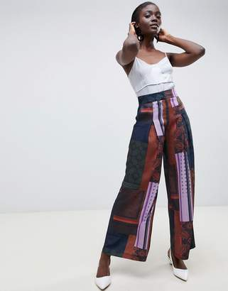 Asos printed wide leg pants