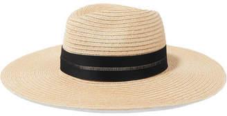 Eugenia Kim Emmanuelle Grosgrain-trimmed Straw Hat - Beige