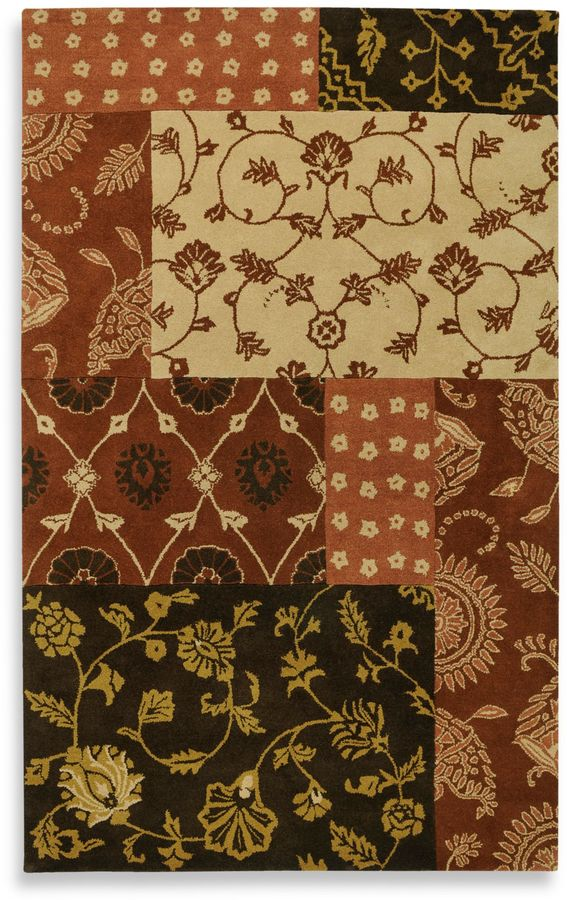 Volare Rizzy Home Collection 2-Foot x 3-Foot Area Rug in Paisley Brown