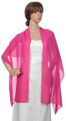 BessWedding Fashion Long Chiffon Bridal Wrap Evening Shawls Scarves/Stole/Pashmina