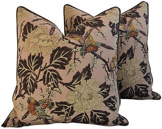 One Kings Lane Vintage Chinoiserie Floral & Birds Pillows