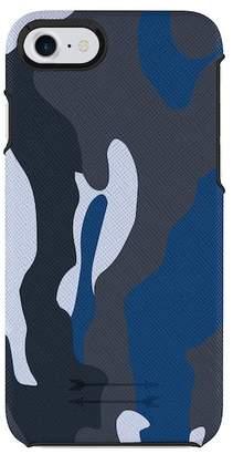 Uri Minkoff Saffiano Leather iPhone 7\u002FiPhone 8 Wrap Case - Blue Camo