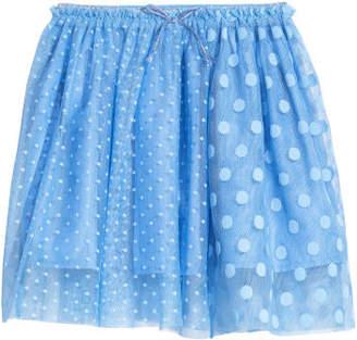 H&M Patterned Tulle Skirt - Blue