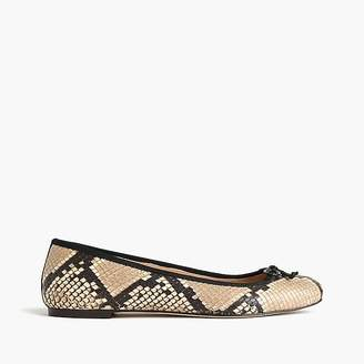 Lily ballet flats in snakeskin-printed leather $148 thestylecure.com