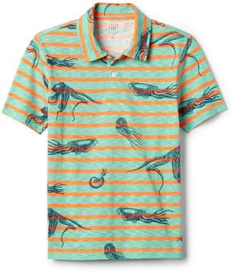Gap Sea Creature Stripe Polo Shirt