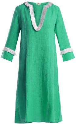 DAFT Capri fringed linen dress