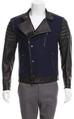 Kent & Curwen Wool and Leather Moto Jacket