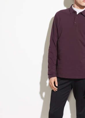 Garment Dye Long Sleeve Polo