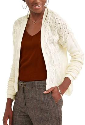 What's Next Women's Cable Knit Pearl Shrug