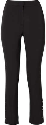 Jason Wu Embellished Stretch-woven Straight-leg Pants - Black