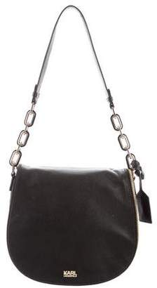Karl Lagerfeld Grained Leather Saddle Bag w/ Tags