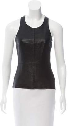 Bailey 44 Leather-Accented Sleeveless Top