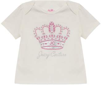 Juicy Couture JC Princess Crown Short Sleeve Tee for Baby